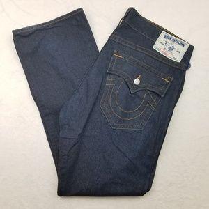 True Religion Straight Jeans Dark Wash 40x34